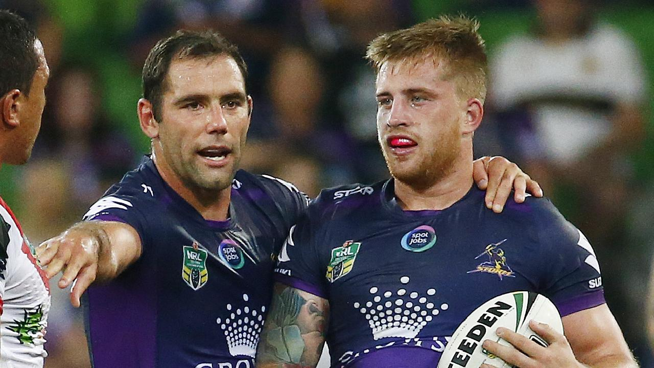Cameron Smith and Cameron Munster have dismissed talk of a split in the Storm camp.
