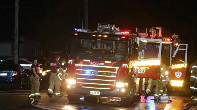 NSW Fire Brigade at the scene. Picture: Bill Hearne