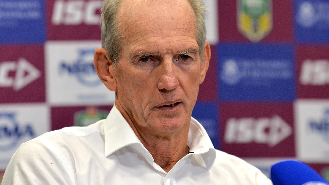 Pressure is growing on the Brisbane Broncos to come to terms with coach Wayne Bennett. Picture: Bradley Kanaris/Getty Images