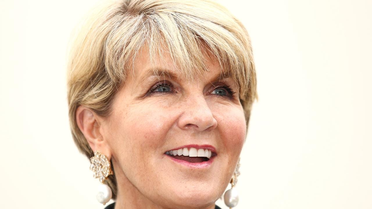 Julie Bishop is ambassador for the first professional all-female Sydney to Hobart Yacht Race team. Picture: Cameron Spencer/Getty Images