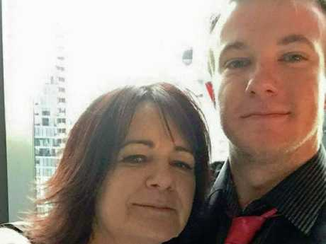 Danny Westwood with his mum, Karen. Picture: Supplied