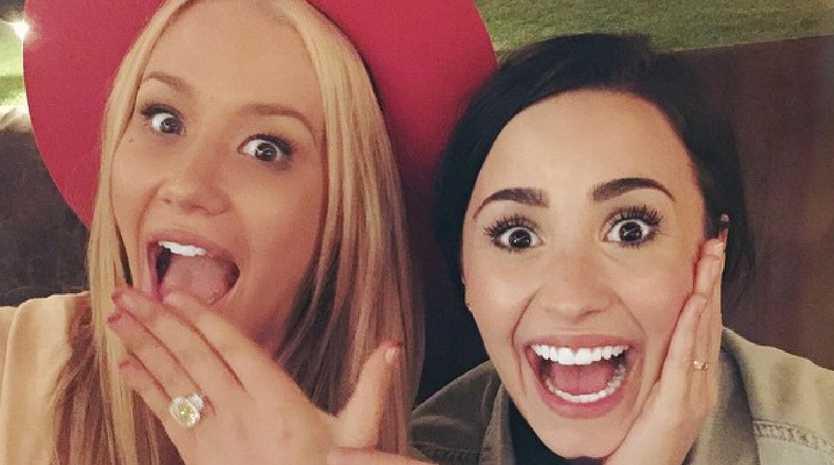 Singer Demi Lovato with Iggy Azalea.  Picture: Instagram