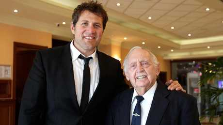 Jason Stevens with the late Mick Carroll who was a WWII survivor