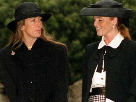Susan Barrantes and daughter Sarah Ferguson, Duchess of York. Picture: Supplied