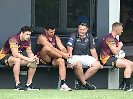 Broncos players were there. Wayne Bennett was not.