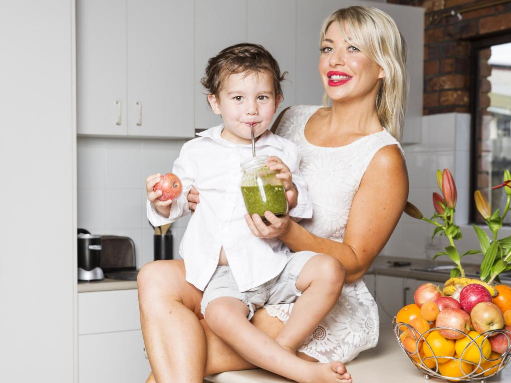 Coolum Mum Yolanda Criaco with son Leo, 2, who she doesn't let have any sweet drinks. Picture: Lachie Millard