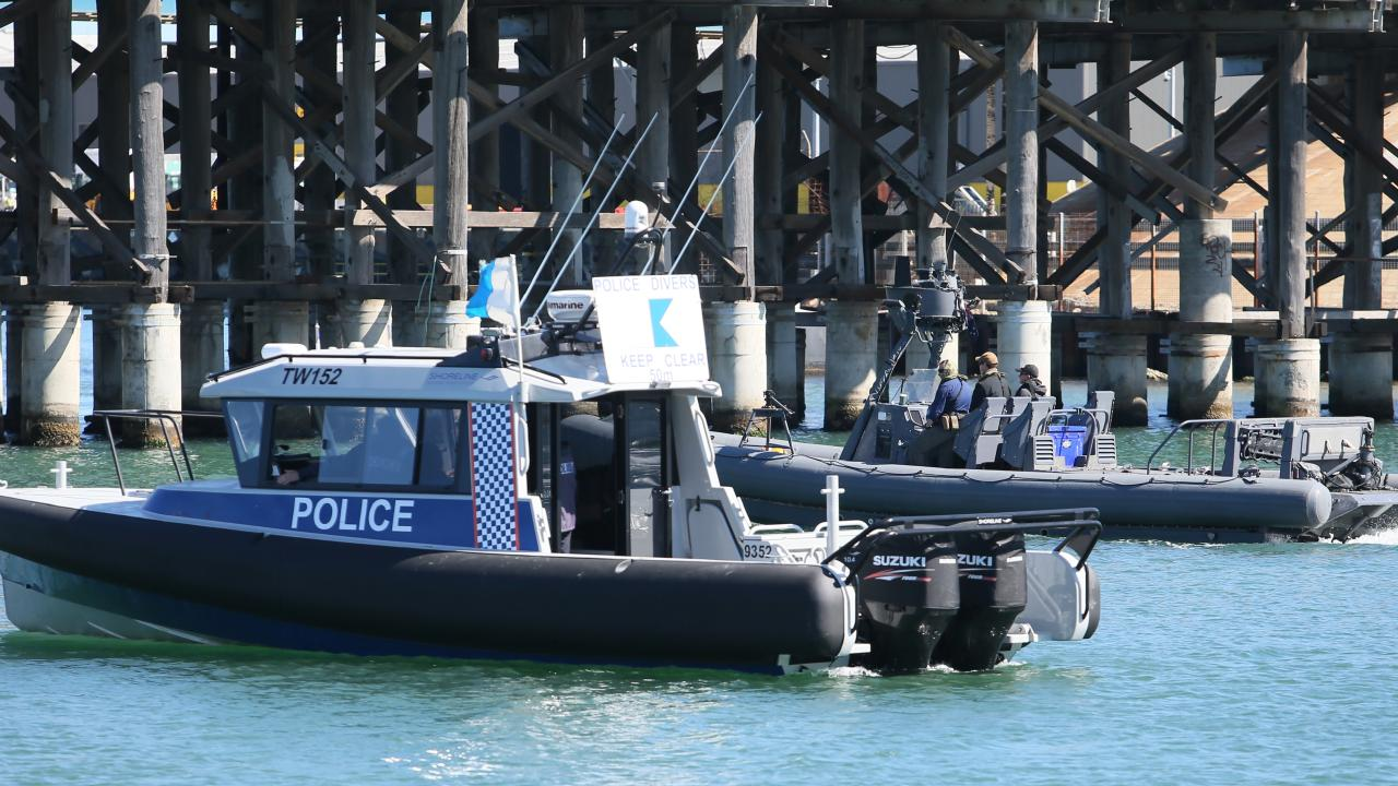 Police divers are back scouring the Swan River in Fremantle for more clues into the murder of Mosman Park artist Annabelle Chen in 2016. Picture: Colin Murty