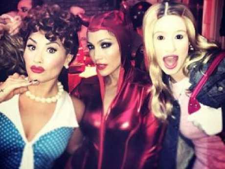 Demi Lovato, Jennifer Lopez and Iggy Azalea.  Picture:  Twitter