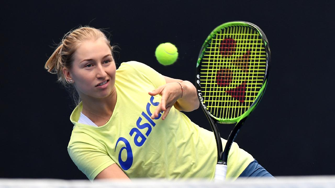 Australian tennis player Daria Gavrilova is seen during practice in Brisbane. Picture: AAP Image