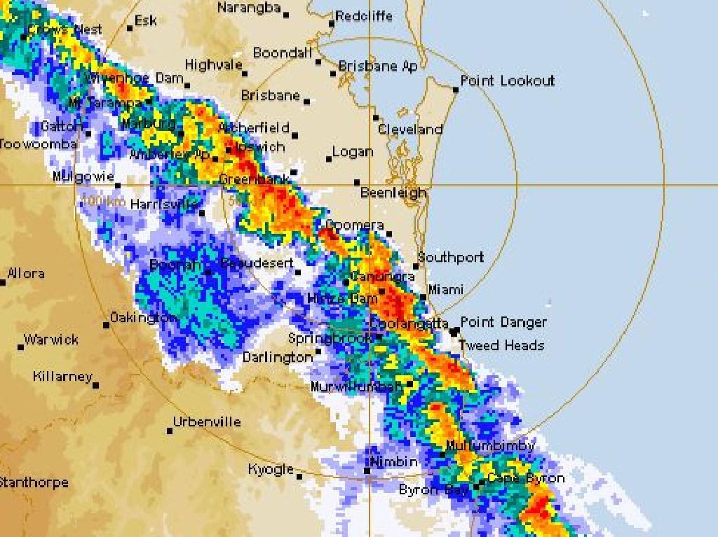 Severe Thunderstorm Warning for Southeast Queensland.