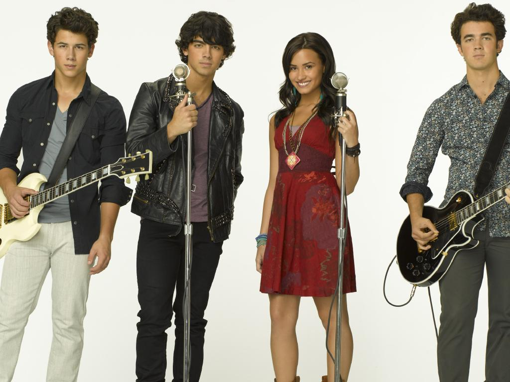 Nick Jonas, left, has been friends with Demi Lovato since they were kids.  Picture:  Supplied