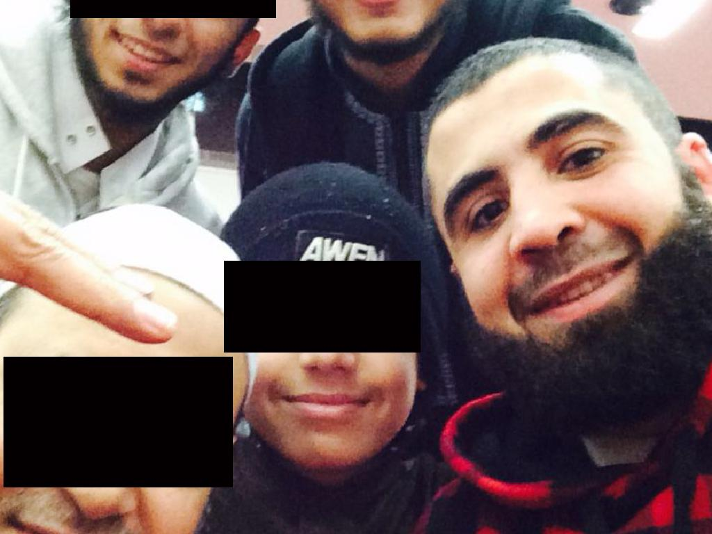 Sydney man Ahmed Merhi poses for a selfie in a photo uploaded to his Facebook on April 12, 2015 with friends.