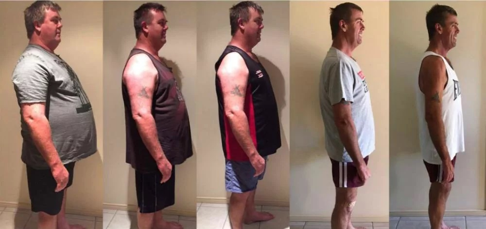 The father-of-four lost an impressive 73kg in just under 12 months using the Cambridge diet. Source: Karishma Sarkari