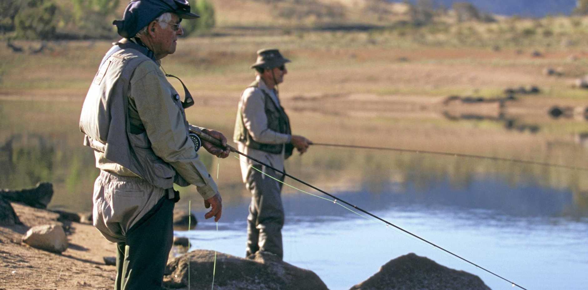 Fishing on Lake Jindabyne, Snowy Mountains