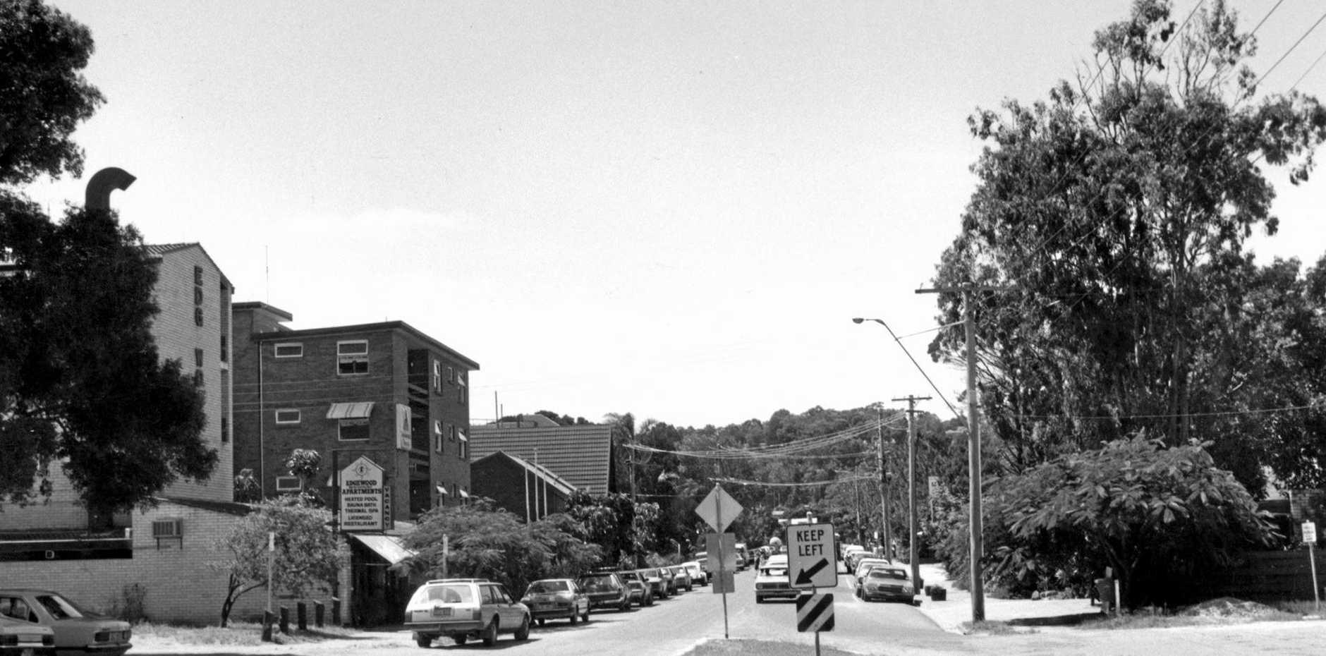 Historical photo of Hastings Street, Noosa.