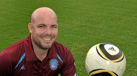 President of Gympie's Diggers Soccer Club, Joel Albion. April 05, 2016. Photo Patrick Woods / Gympie Times.