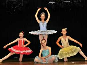 Tiny dancers performing for a good cause