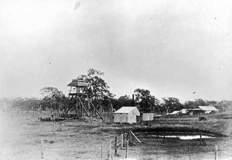 Unidentified mine site in Calliope, Queensland, ca. 1900. Photo: State Library Queensland.
