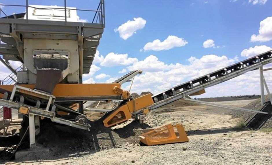 A photograph of the conveyor at Fairfield Quarry, released by the Department of Natural Resources, Mines and Energy in a Mines safety alert.