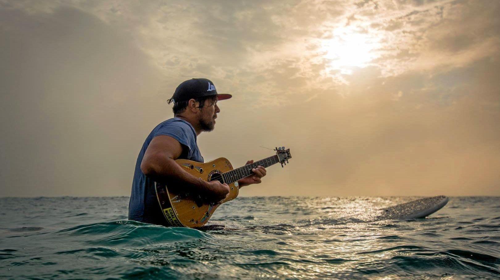 ISLAND STYLE: Northern Rivers musician and surfer Tom Avery, aka Blakboi.