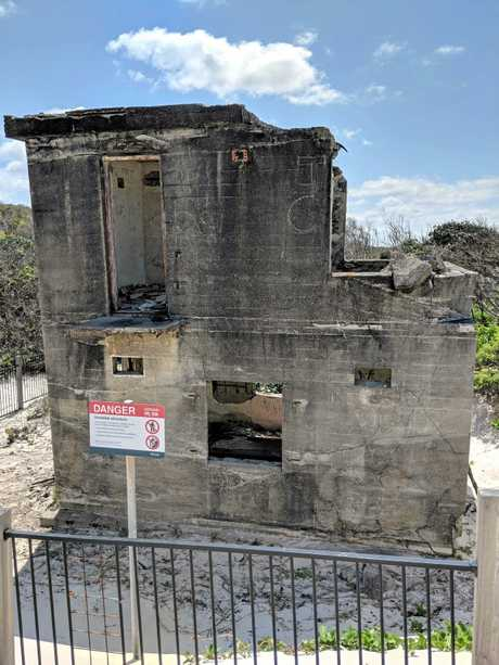 HISTORY IN RUINS: The historic ruins of Fort Bribie fortifications are in a state of decay.