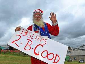 Gympie's 'Sad Santa' is back by popular demand!