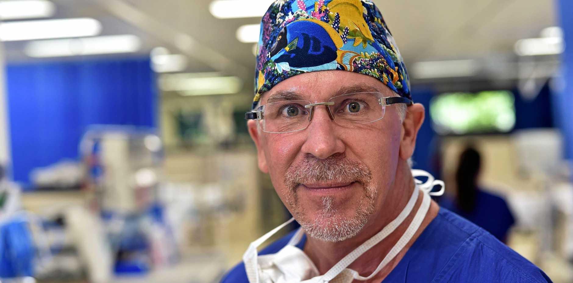 Dr Mark McGovern at Buderim Private Hospital.