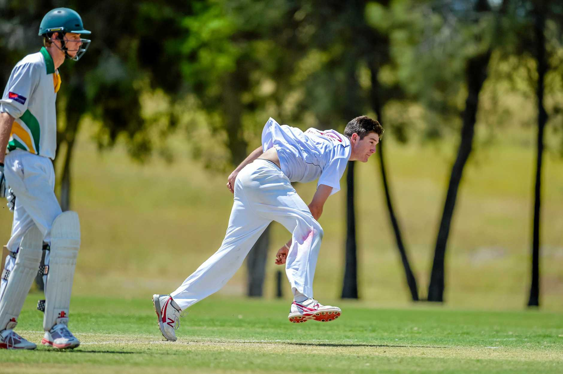 FOCUS: The Gympie Gold bowlers will prepare to rip through the Yandina Pioneers and Byrcen Mitchell will hope to play his part also with the bat.