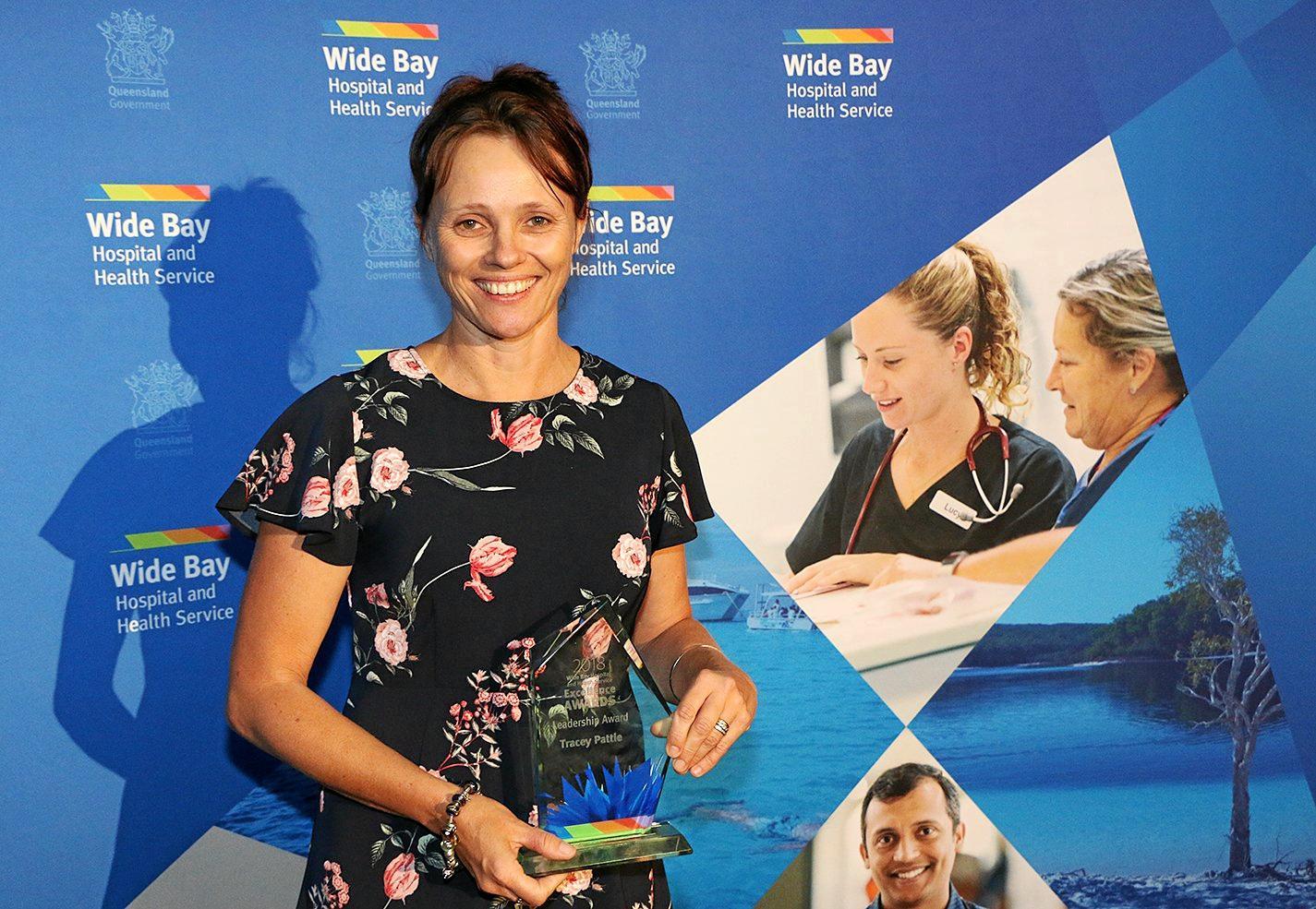 Winner of the WBHHS Leadership Award Monto MPHJS Director of Nursing Tracey Pattie.