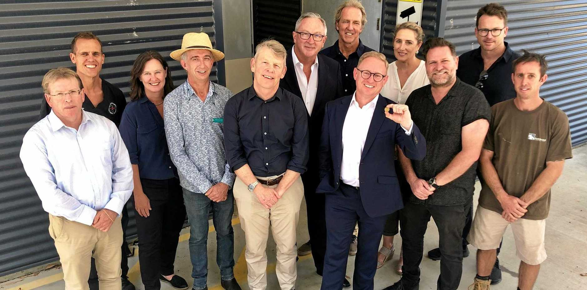 DEAL: Health Minister Brad Hazzard with members of the Steering Committee for the Transfer of Old Byron Bay Hospital to Community Hands.