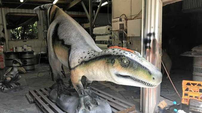 ROAM: Ipswich City Council has started work on the Rosewood Dinosaur Project in Johnston Park.