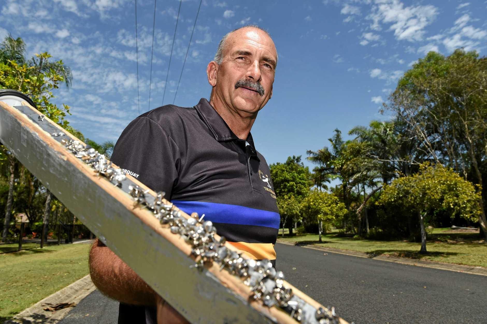 SECRET WEAPON: Hervey Bay Triathlon Club member Alan Whyborn with the