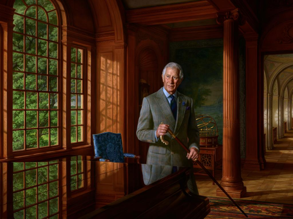 The official royal portrait of Prince Charles by highly-acclaimed Australian artist Ralph Heimans.
