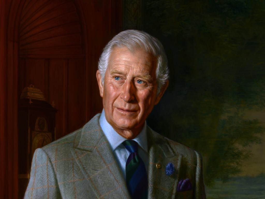 The artist said he drew inspiration for Prince Charles' portrait from his writings and his commitment to environmental protection and sustainability.