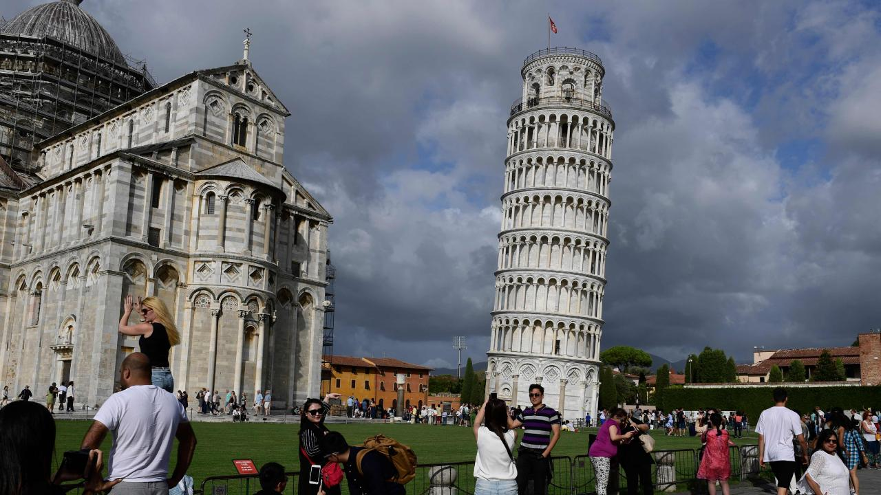 The Leaning Tower of Pisa. Picture: Miguel Medina/AFP