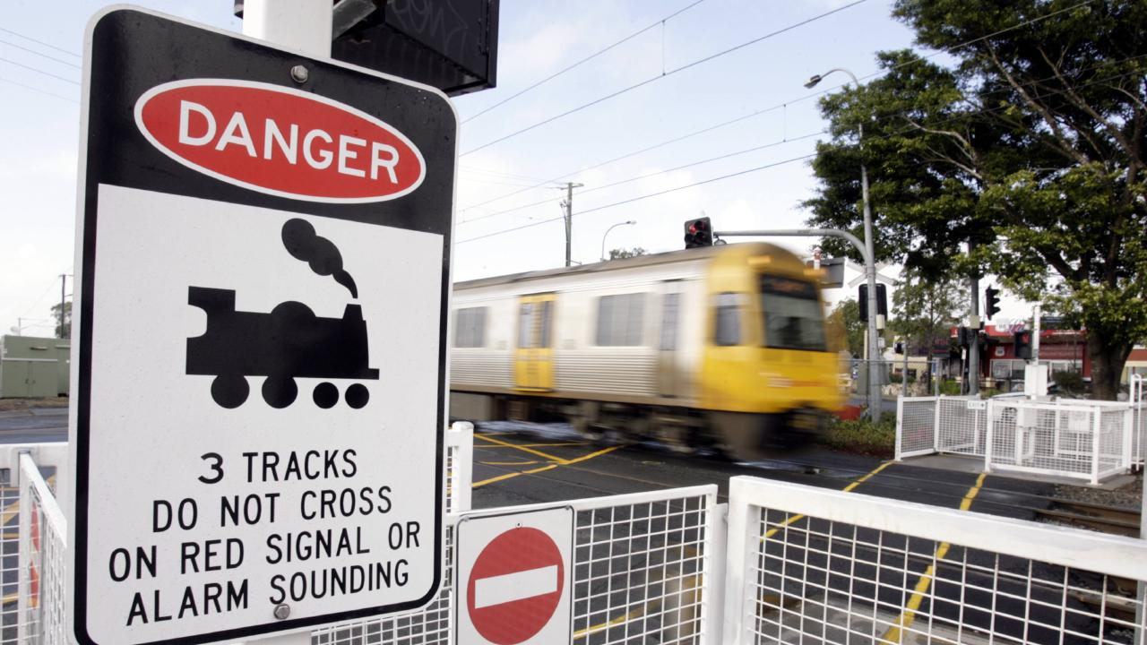 Motorists stopping on the level crossing at the Geebung train station now face a $200 on-the-spot fine. Picture: Sarah Marshall