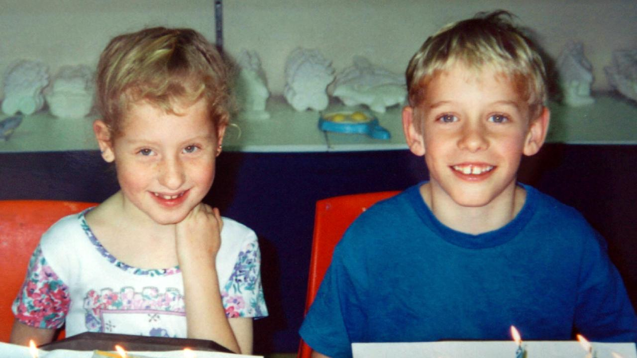 Norman as a child with twin sister Cheryl at their Sydney home.