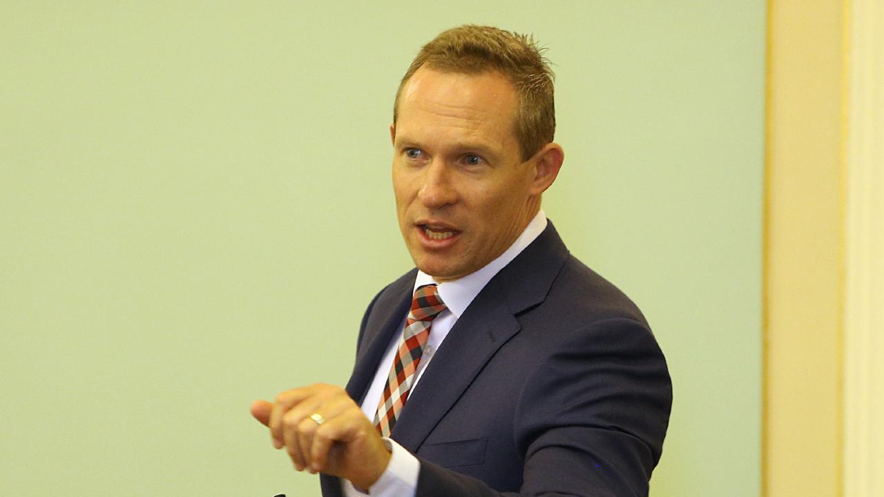Queensland State Parliament question time. Hon Michael (Mick) de Brenni, Member for Springwood (ALP) Thursday, November 1, 2018. (AAP Image/Richard Waugh)