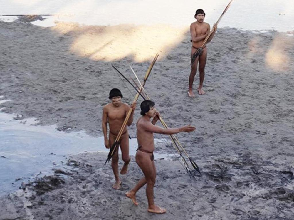 Several members of an isolated indigenous tribe from the Amazon report the massacre of their families in 2014. Picture: Funai- Brazil