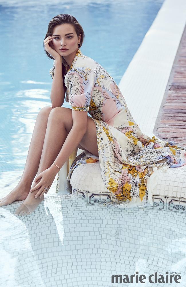 Miranda Kerr posed for marie claire Australia. Picture: Nino Munoz