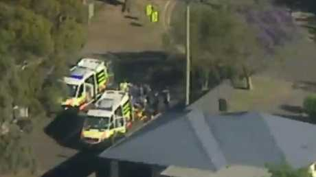 Emergency services are on the scene at an alleged shooting in Engadine this morning. Picture: 7 News Sydney