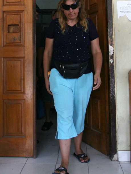 Norman's mother Robyn Davis visits Kerobokan. Picture: Lukman S Bintoro.