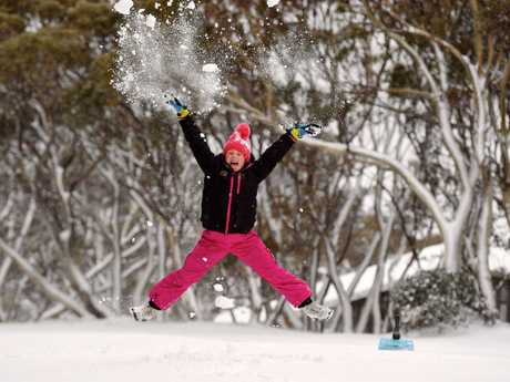 Mount Hotham in Victoria received a dumping of snow, with more powder expected today. Picture: Chris Hocking
