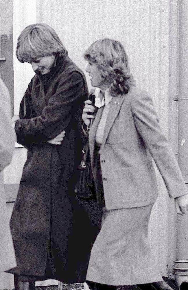 Diana (left) and Camilla in 1980.