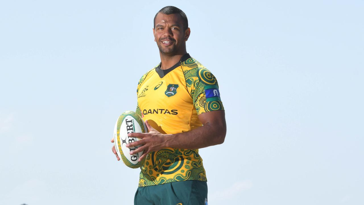 Kurtley Beale won't get to wear the Wallabies' indigenous jersey at Twickenham. Picture: Simon Bullard