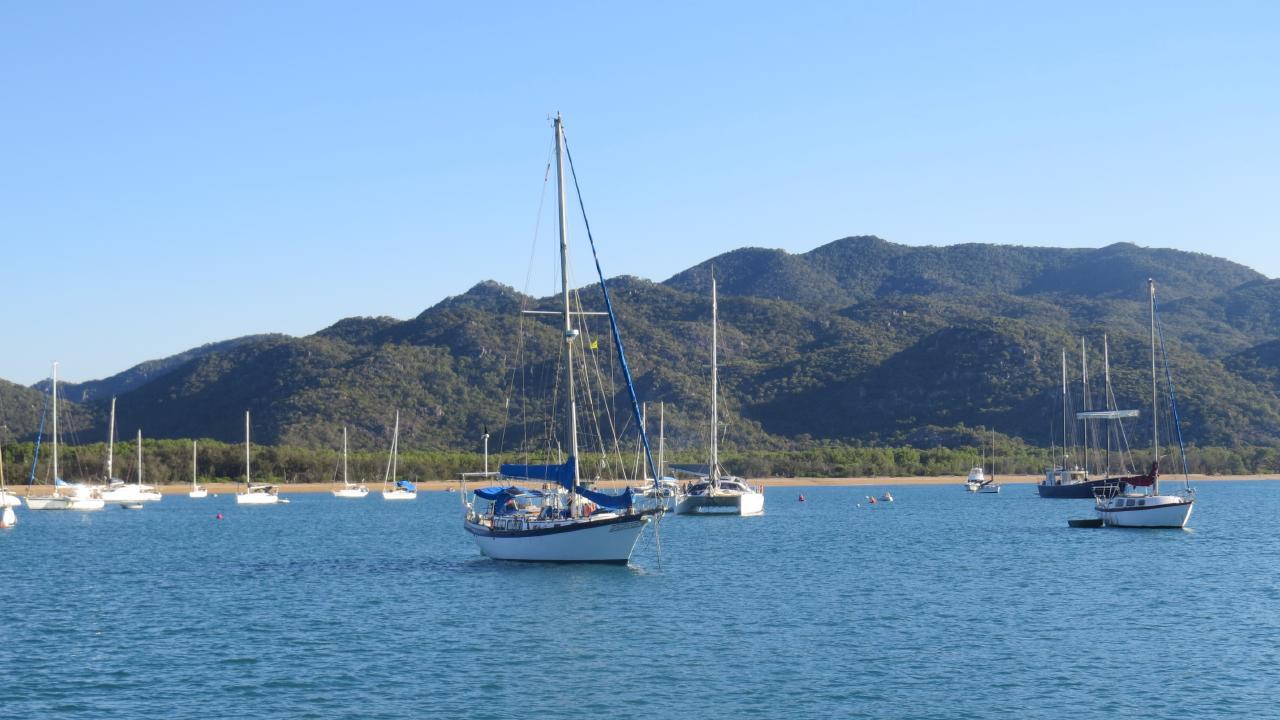 Boats in Horseshoe Bay, Magnetic Island.