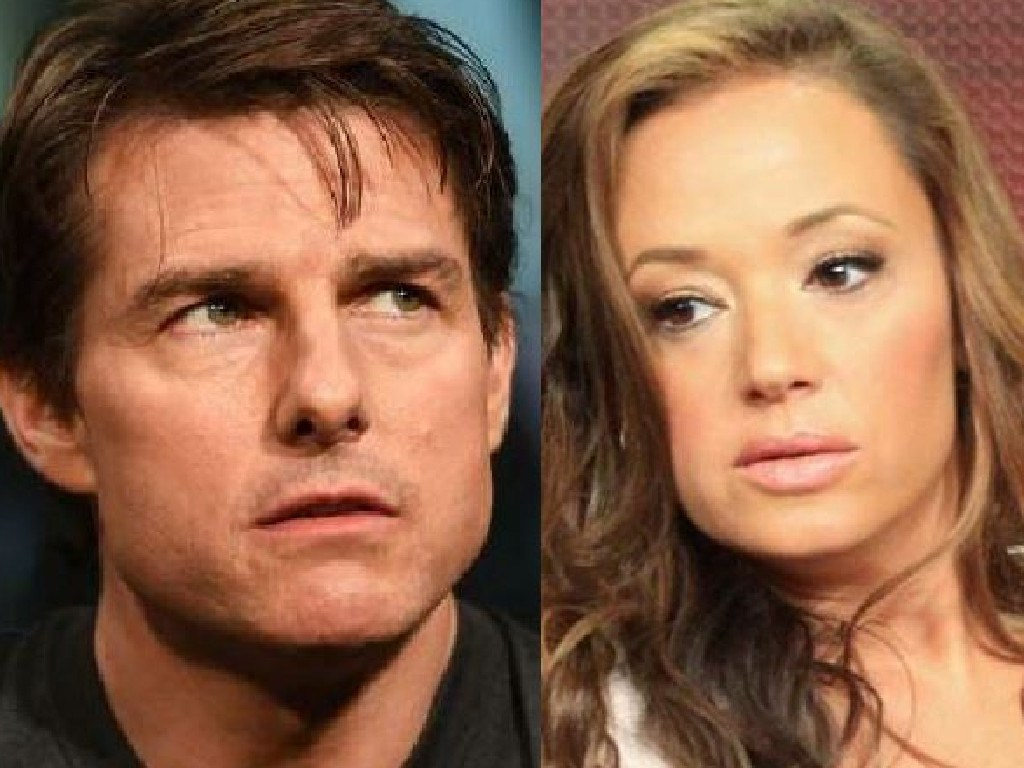 Tom Cruise and former Scientologist Leah Remini.