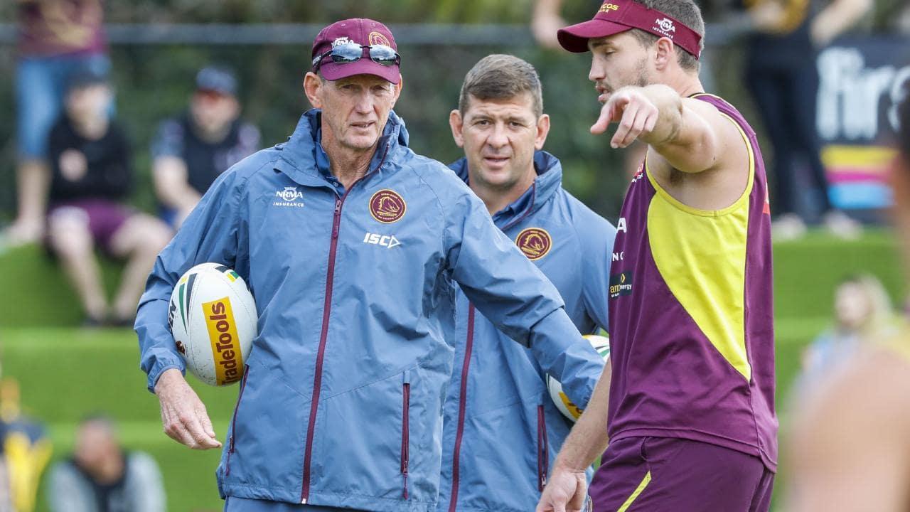 Brisbane Broncos coach Wayne Bennett was back at pre-season training this week.