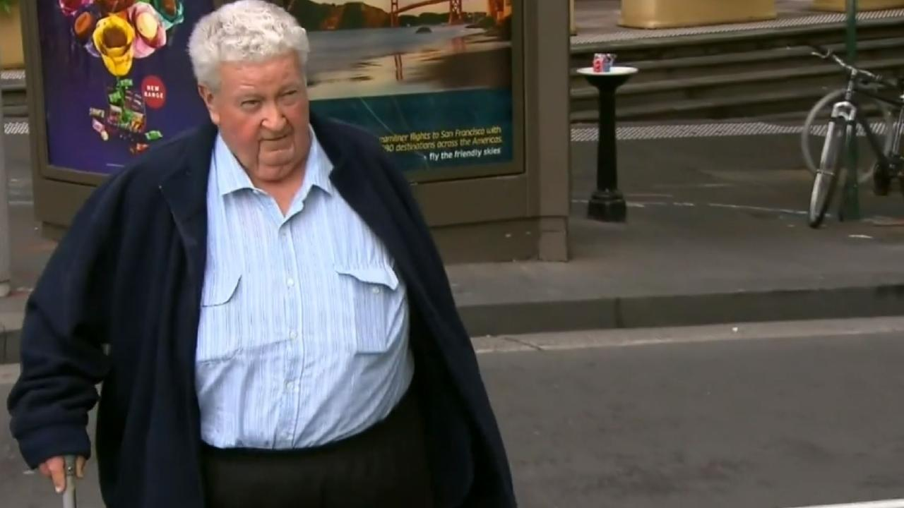 Victims cheered as Victor Higgs, 81, was led off in handcuffs for his sex crimes against boys. Picture: Nine News.