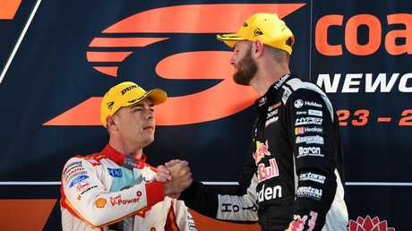 McLaughlin with Shane van Gisbergen. Picture: Getty